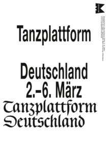 German Dance Platform 2016 Poster